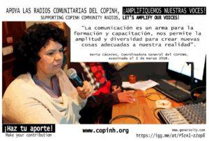 Campaña para apoyar  el trabajo de las radios del COPINH